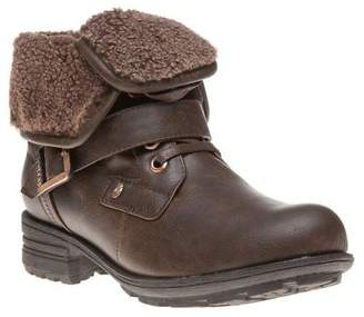 Firetrap New Womens Brown Henri Synthetic Boots Ankle Lace Up