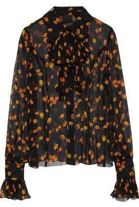 Anna Sui Printed Silk-Georgette Top