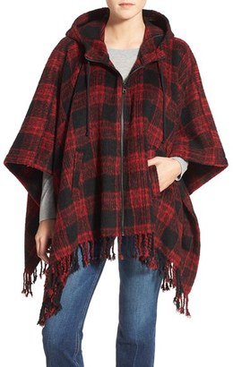 Steve Madden Hooded Poncho Cardigan $128 thestylecure.com