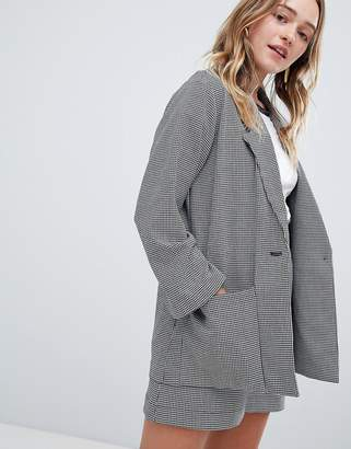 Monki Check Tailored Blazer Two-Piece