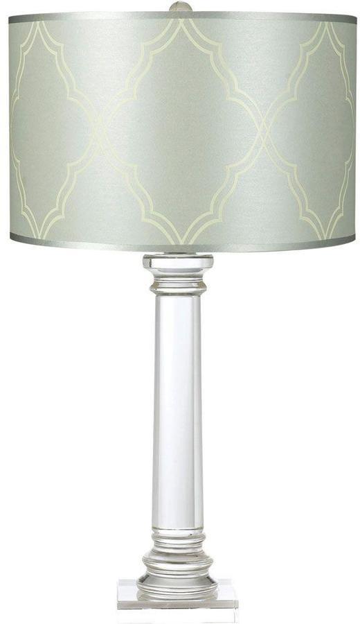 AF LightingAF Lighting Trellis 28.5 in. Crystal Table Lamp with Silver/Blue Paper Shade
