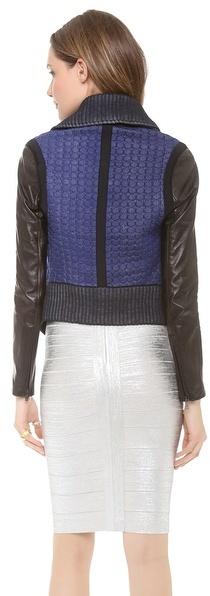 Ohne Titel Leather Knit Jacket