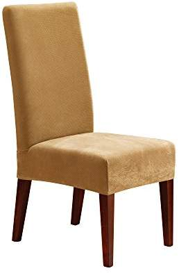 At Amazon.com · Sure Fit Stretch Pique   Shorty Dining Room Chair Slipcover    Antique (SF36852)