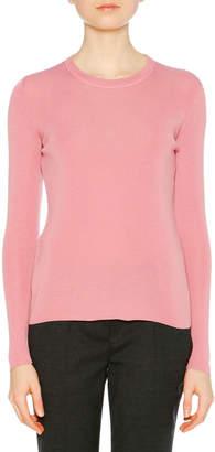 Prada Long-Sleeve Cashmere-Silk Knit Sweater