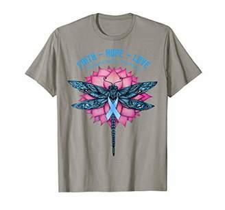 Butterfly Faith Hope Love Funny Ovarian Cancer Awareness T-Shirt