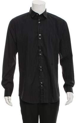 Dolce & Gabbana Slim Fit Pinstripe Woven Shirt w/tags w/ Tags