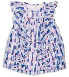 Kate Spade Girls' Ruffled Brushstroke-Print Dress - Little Kid