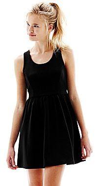 L'amour Nanette Lepore Sleeveless Back-Zip Babydoll Dress