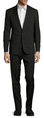 Ralph Lauren Purple Label Classic-Fit Mini-Stripe Wool Two-Button Suit