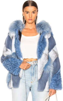 Yves Salomon Lamb, Fox & Mink Fur Toscana Jacket in Riviera | FWRD