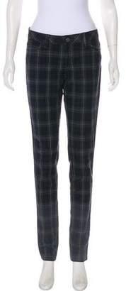 L'Agence Plaid Low-Rise Pants