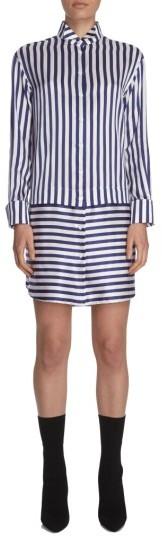 Burberry Women's Burberry Stripe Silk & Cotton Shirtdress