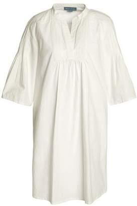 MiH Jeans George Pintucked Cotton-Poplin Mini Dress