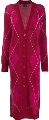 Pinko Argyle pattern cardi-coat