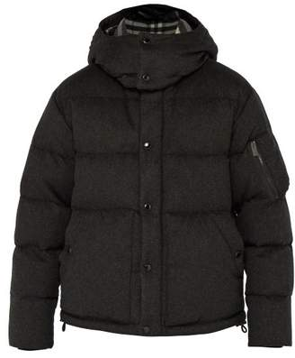 Burberry Cashmere Down Filled Padded Jacket - Mens - Grey