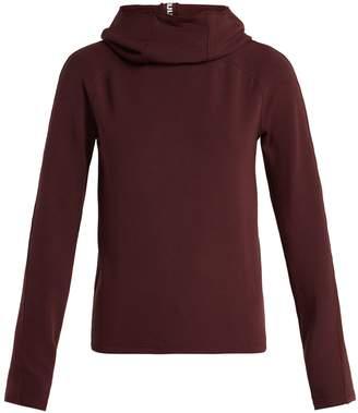 Paco Rabanne Funnel-neck hooded jersey sweater