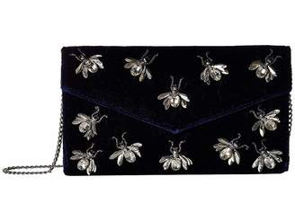 San Diego Hat Company BSB3547 Velvet Clutch with Multiple Bug Details with Hidden Chain Detail