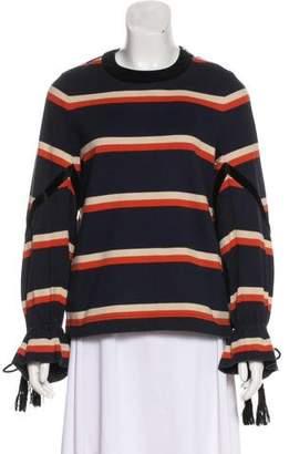 Sacai Striped Long Sleeve Top