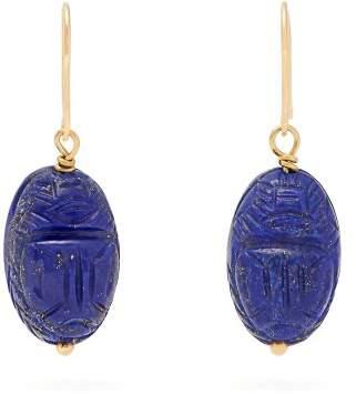 Aurelie Bidermann Fine Jewellery Fine Jewellery - Lapis & 18kt Gold Earrings - Womens - Blue
