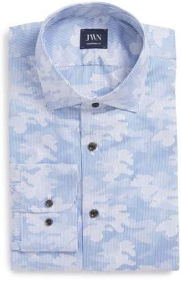 John W. Nordstrom R) Traditional Fit Camo Dress Shirt