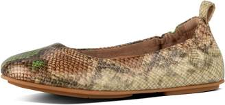 FitFlop Allegro Snake-Print Leather Ballet Flats