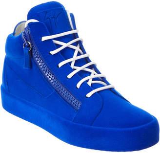 Giuseppe Zanotti The Unfinished Velvet Sneaker