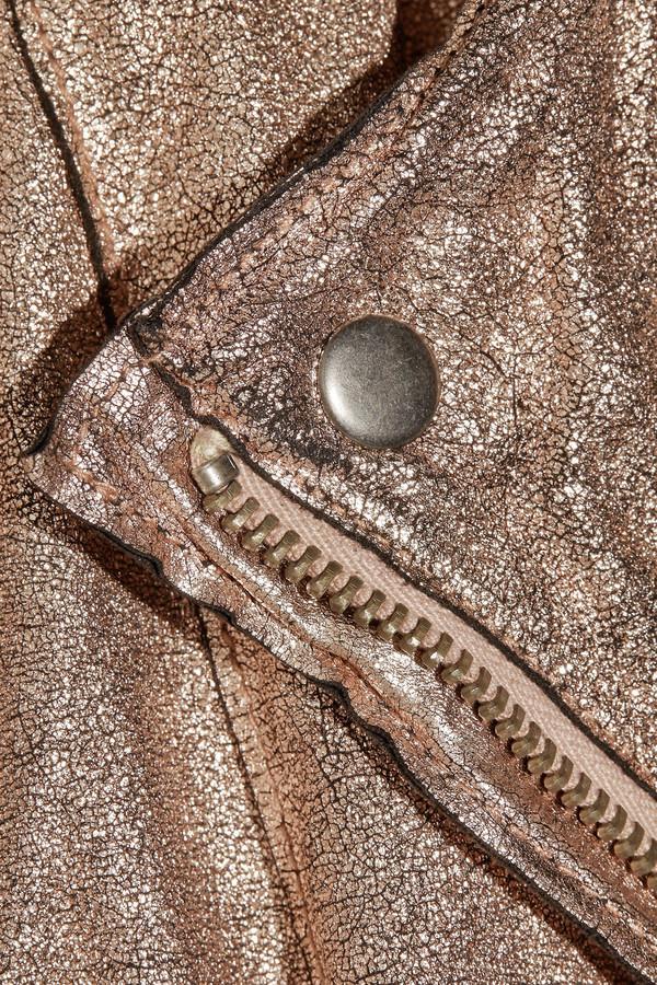 Muu Baa Muubaa Monteria metallic leather biker jacket