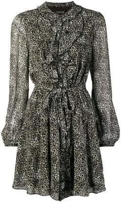 Saloni leopard print dress