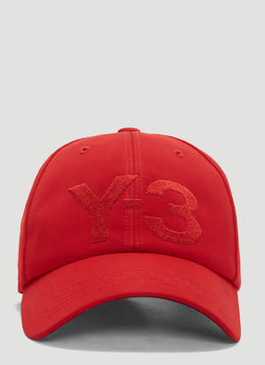 Y-3 Y 3 Embroidered Logo Cap in Red