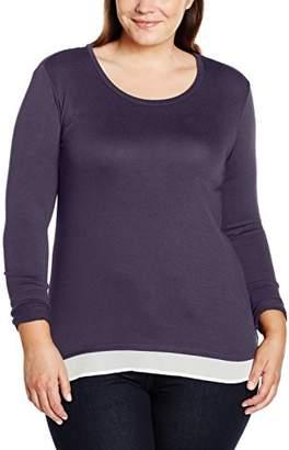 Zizzi Women's O10576A Jumper, Schwarz (Black Comb. 199), Manufacturer Size:Small