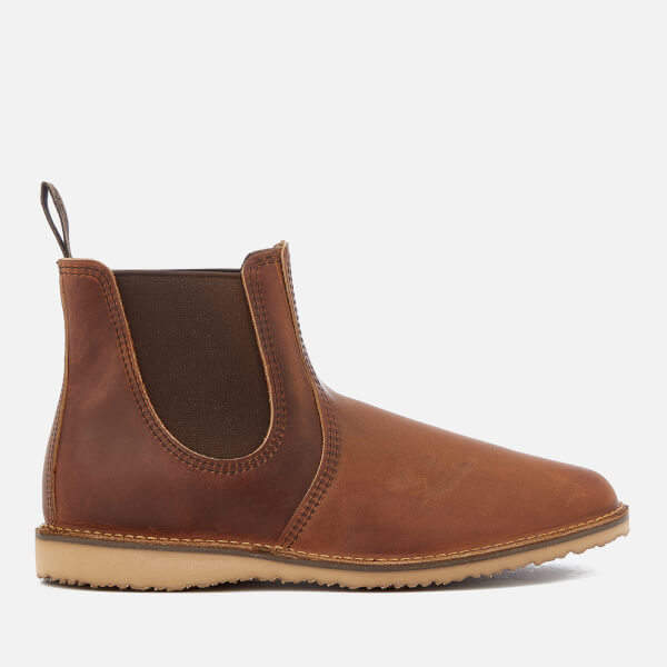 Red Wing Zapatos Hombre Weekender Weekender Hombre Leather Chelsea Botas Copper Rough 13bca0