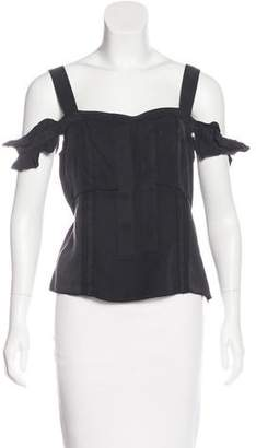Miu Miu Ruffled Sleeveless Top