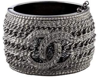 Chanel CC Wide Bangle