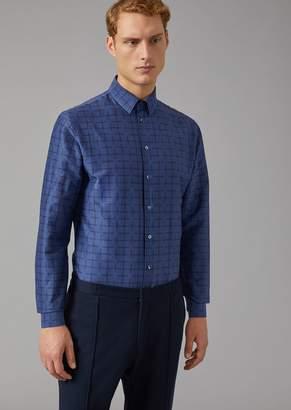 Giorgio Armani Patterned Cotton Shirt