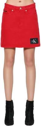 Calvin Klein Jeans Light Cotton Denim Skirt