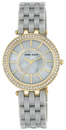 Anne Klein Anne Klein Swarovski Crystal Embellished Round Analog Watch