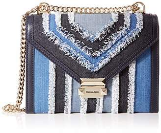 Michael Kors Whitney Large Frayed Denim Conv Shoulder Bag Women's Shoulder Bag,(B x H x T)