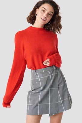 Na Kd Classic Checked Short Skirt Grey
