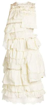 Simone Rocha Moncler Genius 4 Moncler Tiered Ruffle Dress