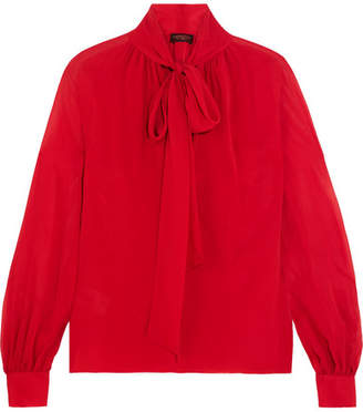 Giambattista Valli Pussy-bow Silk-georgette Blouse - Red