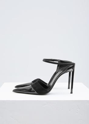 Haider Ackermann norma black high mule $845 thestylecure.com