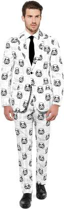 Star Wars Opposuits Men's OppoSuits Slim-Fit Stormtrooper Novelty Suit & Tie Set