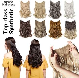 styling/ Lady Fashion Mall Invisible Secret Wire Flip on Clip in Hair Extensions 20-24 Inches Long Straight Wavy Curly Synthetic Hairpieces Miracle Translucent Fish Line Black Blonde Brown Ombre