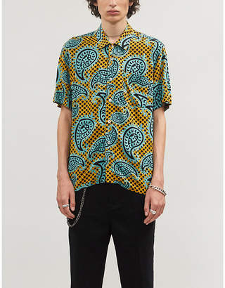 Obey Eisley graphic-pattern relaxed-fit woven shirt