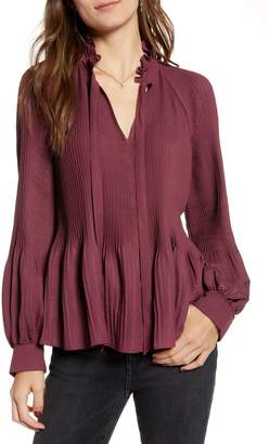 Treasure & Bond Pleated Peasant Top