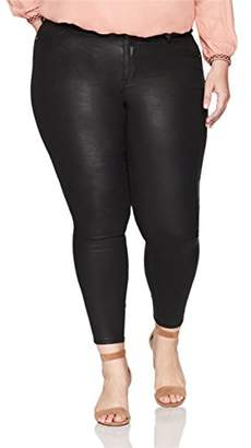 Denim Crush Women's Sleek Coated Jegging Plus Size