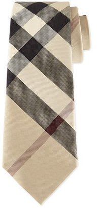 Burberry Classic Check Silk Tie, Taupe $190 thestylecure.com