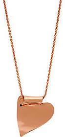 Robert Lee Morris RLM Jewelry by RLM Bronze Folded Heart Necklace