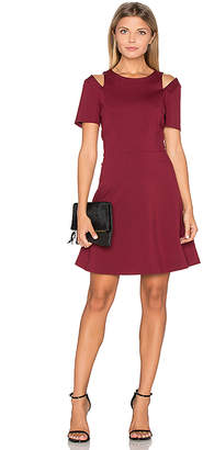 1 STATE Cut Out Shoulder Fit & Flare Dress