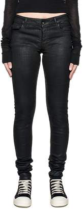 Drkshdw Black Detroit Waxed Denim Jeans